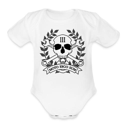 Moto Ergo Sum - Organic Short Sleeve Baby Bodysuit