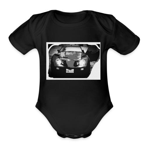 vette lover - Organic Short Sleeve Baby Bodysuit