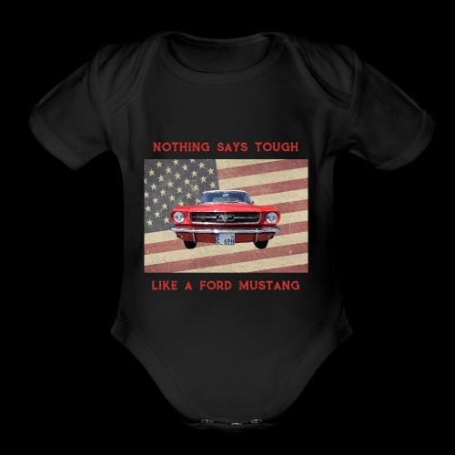 Mustang Tough - Organic Short Sleeve Baby Bodysuit