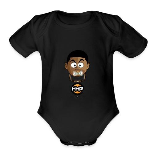 HUNGRY MONEY GANG (HMG) - Organic Short Sleeve Baby Bodysuit