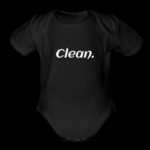 Clean T-shirt - Organic Short Sleeve Baby Bodysuit