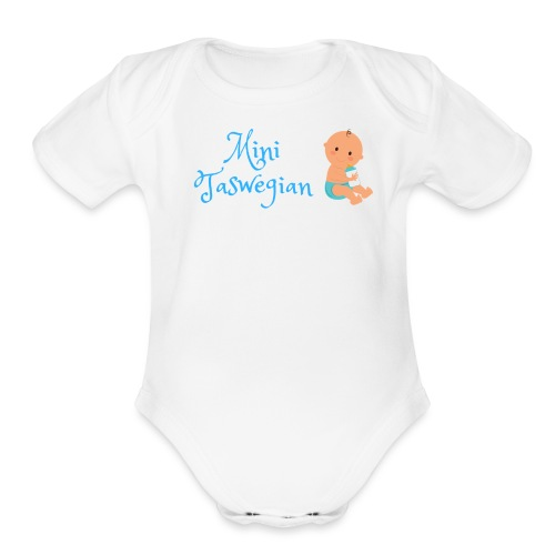 Boys Mini Taswegian - Organic Short Sleeve Baby Bodysuit