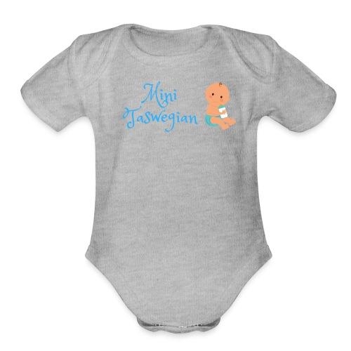 Boys Mini Taswegian - Organic Short Sleeve Baby Bodysuit
