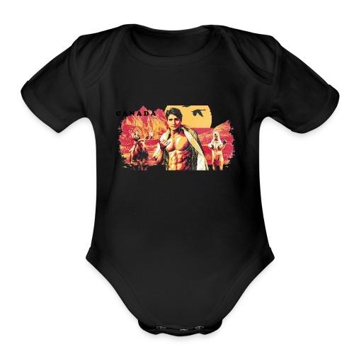Justin Trudeau Shirt - Organic Short Sleeve Baby Bodysuit