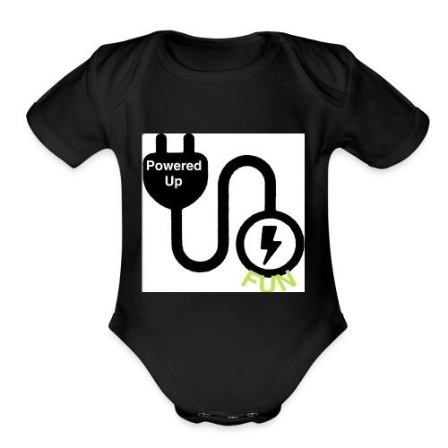 Series 1 Powered Up FUN - Organic Short Sleeve Baby Bodysuit