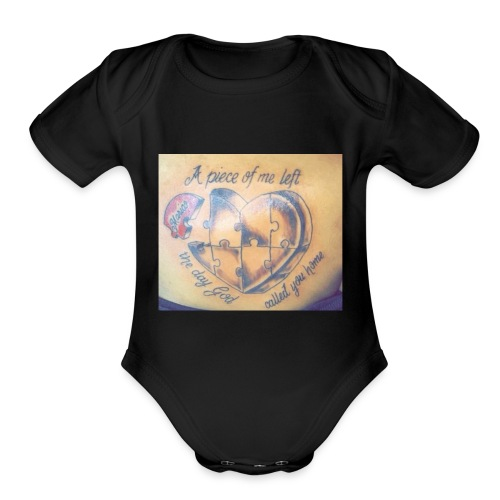 Long live your heart - Organic Short Sleeve Baby Bodysuit