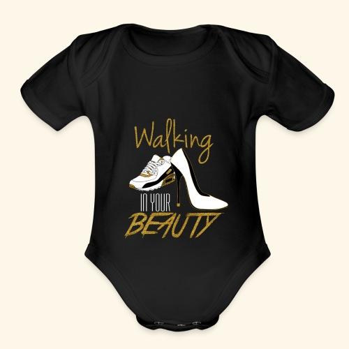 Walking in your Beauty tshirt - Organic Short Sleeve Baby Bodysuit
