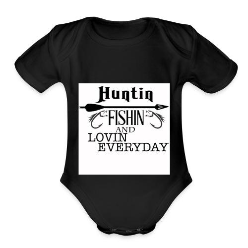 lovin everyday - Organic Short Sleeve Baby Bodysuit