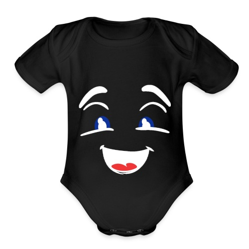 im happy - Organic Short Sleeve Baby Bodysuit