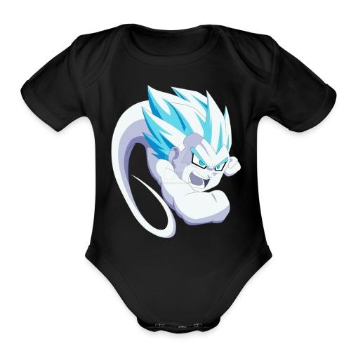 gotenks ghost - Organic Short Sleeve Baby Bodysuit