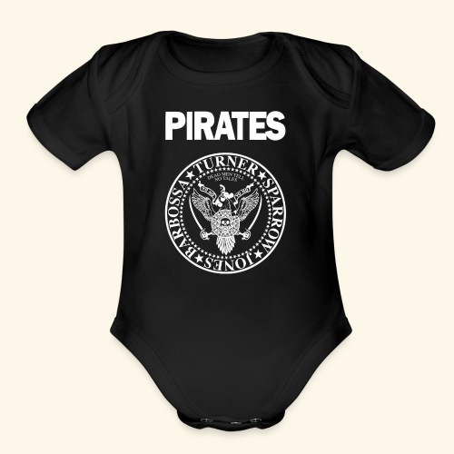 Punk Rock Pirates [heroes] - Organic Short Sleeve Baby Bodysuit