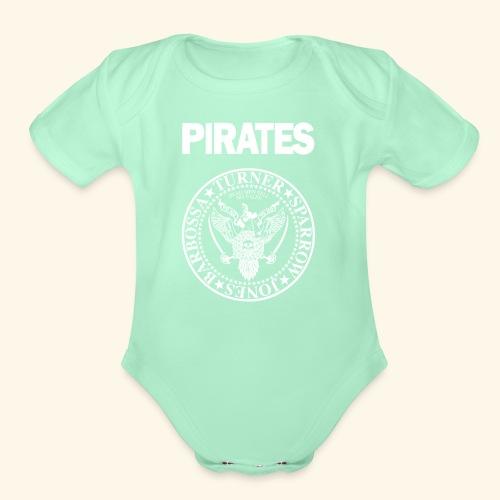 Punk Rock Pirates [heroes] - Organic Short Sleeve Baby Bodysuit