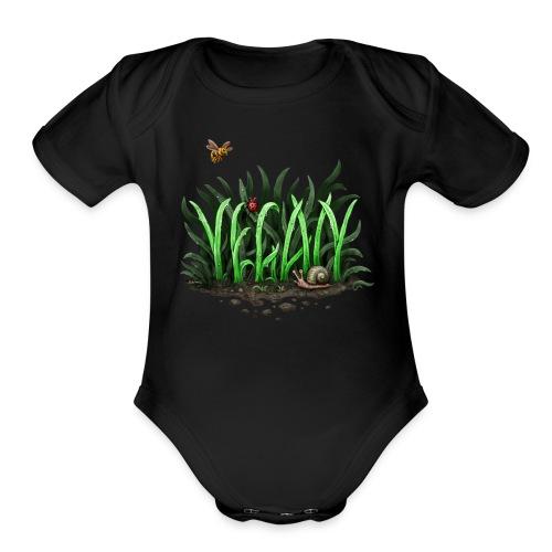grow vegan - Organic Short Sleeve Baby Bodysuit