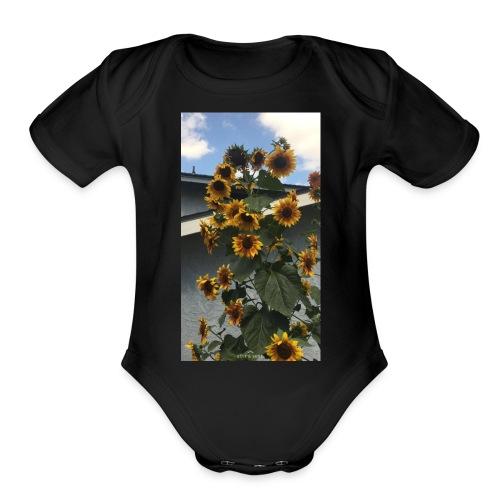sunflower shirt - Organic Short Sleeve Baby Bodysuit