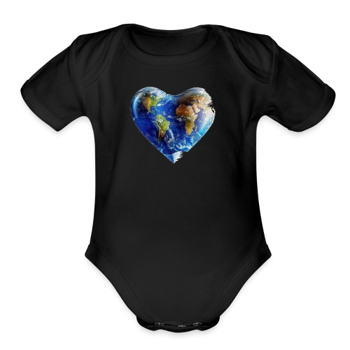 Have a heart - Organic Short Sleeve Baby Bodysuit