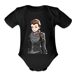 Terallian Official Large - Short Sleeve Baby Bodysuit