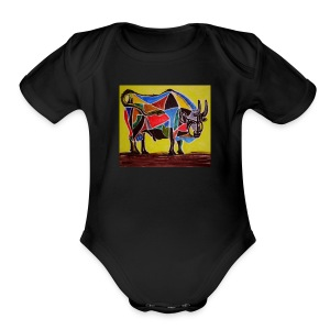 bull - Short Sleeve Baby Bodysuit