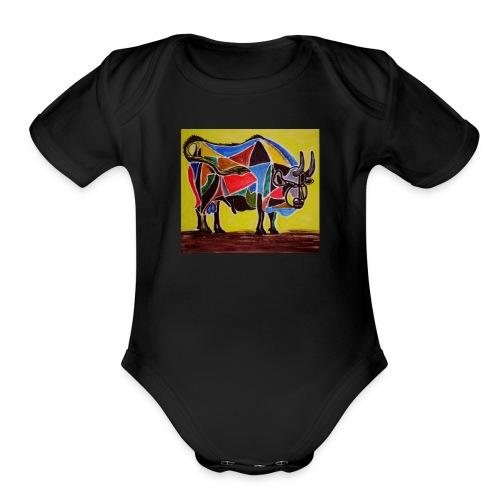 bull - Organic Short Sleeve Baby Bodysuit