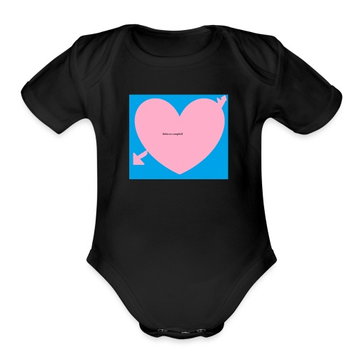 heart - Organic Short Sleeve Baby Bodysuit
