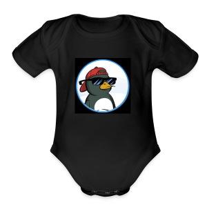 Gelid Penguin Profile Picture - Short Sleeve Baby Bodysuit