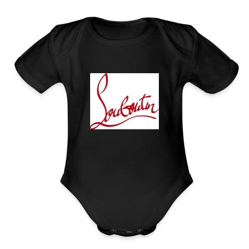 Christian Louboutin T shirts Tee shirts Tees Red B - Organic Short Sleeve Baby Bodysuit
