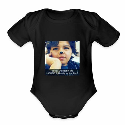 Social Outcast Art! - Organic Short Sleeve Baby Bodysuit