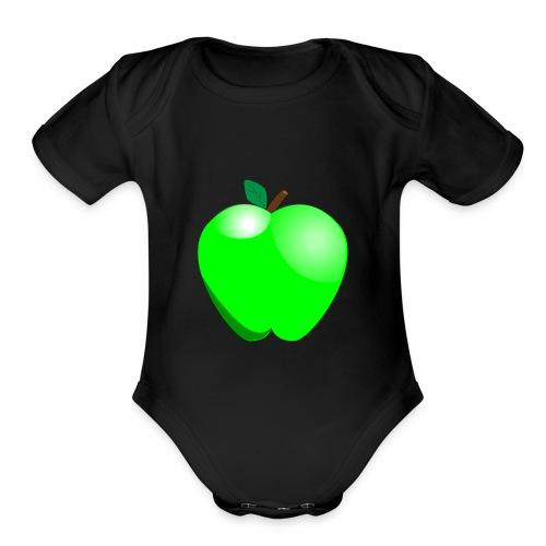 Green Apple - Organic Short Sleeve Baby Bodysuit
