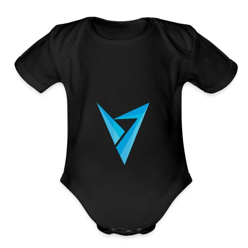v logo - Organic Short Sleeve Baby Bodysuit