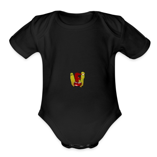 we logo - Organic Short Sleeve Baby Bodysuit