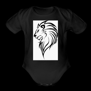 Lion - Short Sleeve Baby Bodysuit