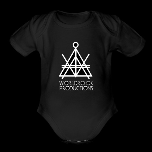 Worldrook Traditional, Black Fill - Organic Short Sleeve Baby Bodysuit