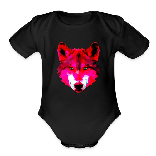 Wild wolf - Organic Short Sleeve Baby Bodysuit