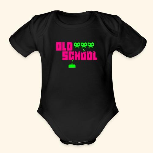 Old School - Organic Short Sleeve Baby Bodysuit