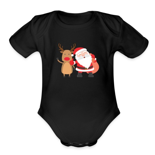 christmas - Organic Short Sleeve Baby Bodysuit