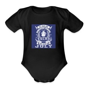 people born in jully - Short Sleeve Baby Bodysuit