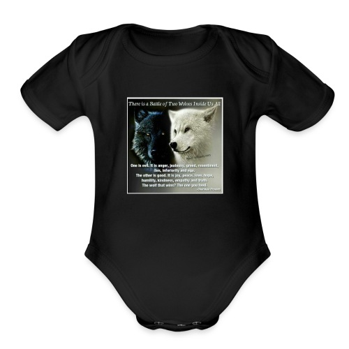 Wolf are just awesome - Organic Short Sleeve Baby Bodysuit
