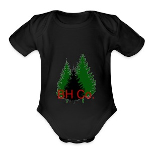 EVERGREEN LOGO - Short Sleeve Baby Bodysuit