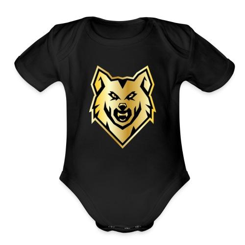 Wolf gril - Organic Short Sleeve Baby Bodysuit