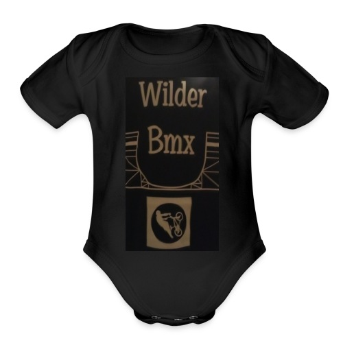 Wilder Bmx logo apparel - Organic Short Sleeve Baby Bodysuit