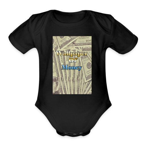 That money rain hard - Organic Short Sleeve Baby Bodysuit