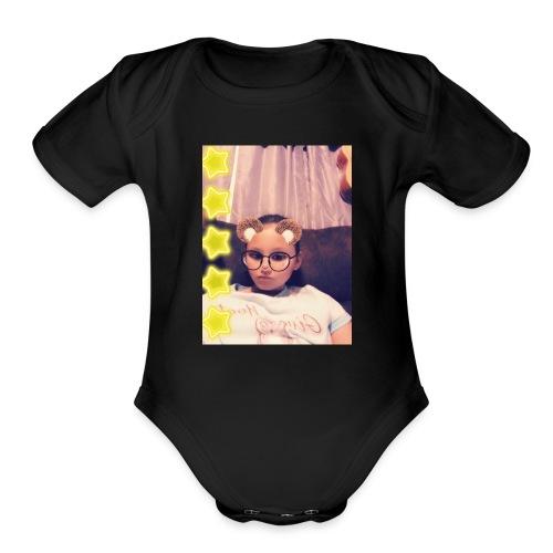 Snapchat 722623678 - Organic Short Sleeve Baby Bodysuit