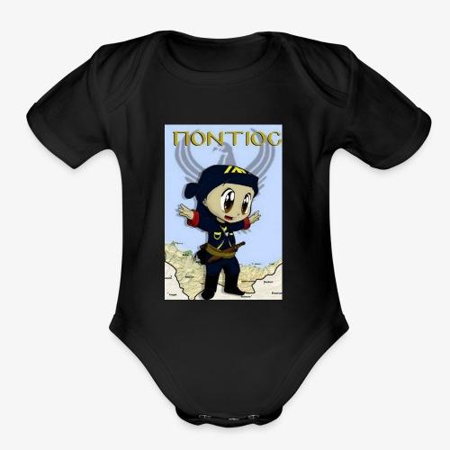 Cartoon - Pontian... fly like an eagle - Organic Short Sleeve Baby Bodysuit