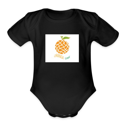 ORANGE - Organic Short Sleeve Baby Bodysuit