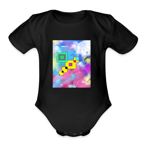 Cosmic Bee - Organic Short Sleeve Baby Bodysuit