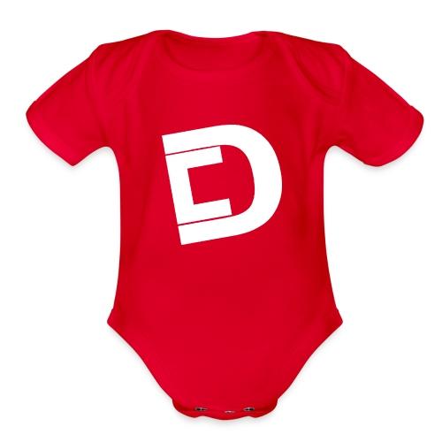 DrewskysChannel Youtube Logo - Organic Short Sleeve Baby Bodysuit