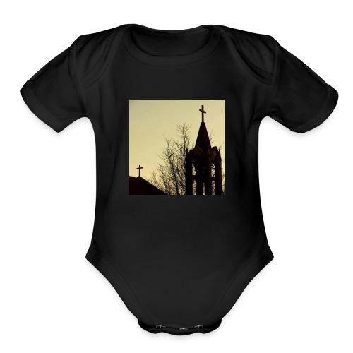 JwarElHawz jarras shirt - Organic Short Sleeve Baby Bodysuit