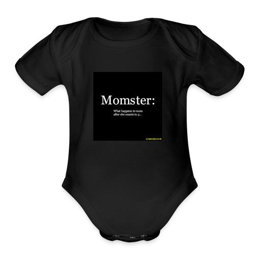 Momster - Organic Short Sleeve Baby Bodysuit