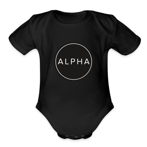alpha team fitness - Organic Short Sleeve Baby Bodysuit