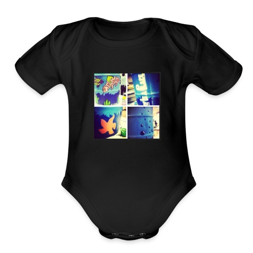 cool art - Organic Short Sleeve Baby Bodysuit