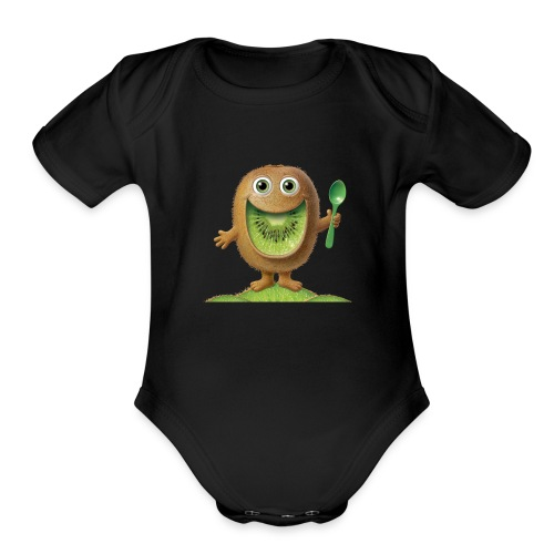 my channel logo - Organic Short Sleeve Baby Bodysuit